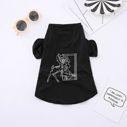 Wholesale Halloween Costumes For Sale - Hot Sale Summer Dog Clothes Fashion T Shirt Vest Cotton Deer Letters Costumes Perfect For Dogs Cats Four Styles 5 Sizes Available