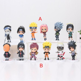 "naruto sakura figures Promo Codes - Japan Anime Naruto 6pcs set 2.8"" figure Naruto Sakura kakashi sasuke haku Zabuza Q version action figure toys doll"