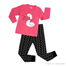 Wholesale Duck Sets - Wholesale-New Kids Cartoon Pajamas Children Superman Sleep wears for 2-7 years Toddler PJS duck Pyjamas Free Shipping 6 sets lot