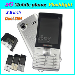 Wholesale Dual Sim Quad Band Smartphone - H-mobile T8 Dual SIM 2G Unlocked Mobile phones 2.8 inch Quad Band No Smartphone Back Camera Flashlight Facebook FM Free Shipping 100pcs