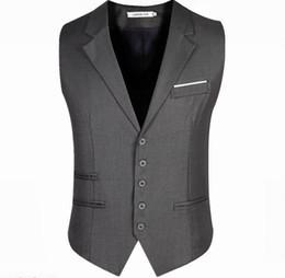 Wholesale Men Slim Fit Suits Business - 2017 New Arrival Men Vest Men's Fitted Leisure Waistcoat Casual Business Jacket Tops suit vest