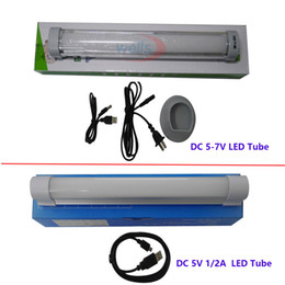 Wholesale Daylight Led Tube Lamp - Wholesale- DC 5-7V Rechargeable Emergency Lights Multi-function Wireless Daylight lamp Easy to Carry SMD 5730 outdoor Camping LED Tube