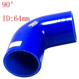 """Wholesale Intake Hoses - Universal ID:2.5"""" ID:64mm Silicone 3Ply Straight Silicone Hose Intercooler Coupler Tube Pipe 90degree straight silicone tube hump hose"""