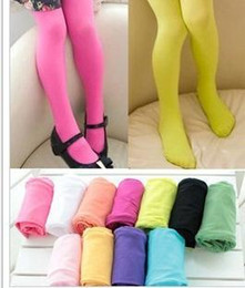 Wholesale Velvet Candy Tights Pantyhose - Many colors 6 pieces lot wholesale ballet panty hose children velvet pantyhose candy color leggings stockings kid's girl's gift
