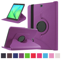 Wholesale Galaxy S Flip Cover - 360 Rotating Flip PU Leather Smart Cover Case for For Samsung Galaxy Tab A T250 T350 T580 T550 S S2 T700 T800 T715 T815 P580 with s pen