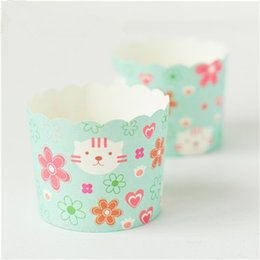 Wholesale Big Baking Cups - Free Shipping cat decoration cake cupcake cups cases holder, big paper muffin decoration cup wedding liners