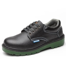Wholesale Safety Wears - Labor insurance shoes male steel toes anti-smashing anti-skid wear anti-skid wear-resistant four seasons insulation safety work shoes Men