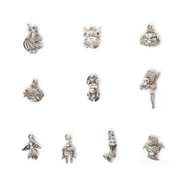 Wholesale Metal Ma - Free shipping Wholesale 107pcs Mixed Antique Silver Plated Zinc Alloy Cow Bird Pestle Charms Pendants DIY Metal Jewelry Findings jewelry ma