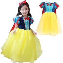 Wholesale Silk Bow Tutu - PrettyBaby snow white princess dress costume for kid Toddler Snow White Costume Fairt Tale dress princess dress snow white princess cosplay