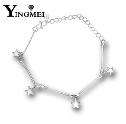 Wholesale Stainless Steel Star Charm - Fashion and simple pentagonal star pendant can adjust the fine chain women's personality and accessories wholesale