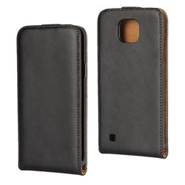 Wholesale Vertical Flip Wallet Case - For Sony Ericsson Xperia XA LG X Cam Genuine Real Flip Leather Pouch Phone Cases Bag Luxury Vertical Black Smooth Skin Cover 50pcs