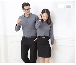 Wholesale Black Button Down Shirt Womens - Womens Basic Long Sleeve Button Down Shirts Cotton Simple Pullover Stretch Formal Casual Shirt Suitable For Winter -07GHY