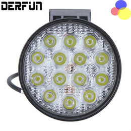 Wholesale Led Offroad Light New - 2016 New 1Pair 4.5 Inch 42W Wafer Crystal Car LED Work Spot Light for Offroad SUV Truck 4WD ATV SUV