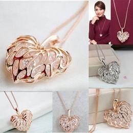 Wholesale Leather Bib Necklaces - Fashion Women Gold Plated Heart Bib Statement Chain Pendant Necklace Jewelry NEW