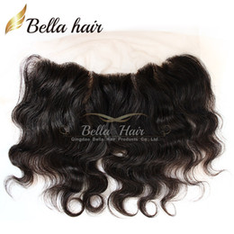 Wholesale natural body products - Lace Frontal Closure Brazilian Body wave 4*13 Ear to Ear Lace Frontal Human Hair Extensions Lace Closure Free Shipping Bella Hair Products