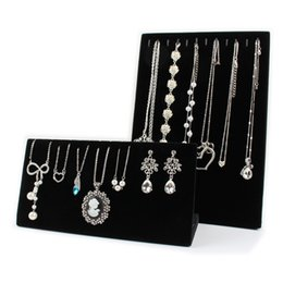 Wholesale Earring Bracelet Stand - Fashion Jewelry Display Stand Velvet Necklaces Display Stand Bracelet Chains Jewelry Display Holder Stand Jewelry Shelf