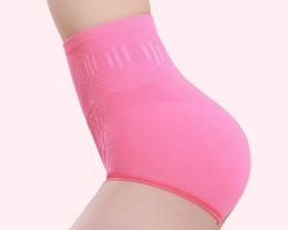 Wholesale panty shaper underwear - Hot sale 6Color new women solid high waist brief Girdle Body Shaper Underwear fashion ladies Pure Cutton Slim Tummy Knickers Panty Underwear