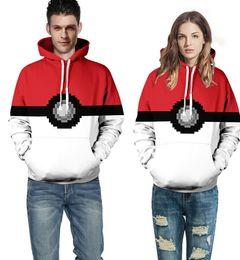 Wholesale Cosplay Sweaters - Poke Sweater Hoodies Poke Ball Sweater Cosplay Costume Sweater asual Sweatshirt Sport Couples Hoodies Hooded Sweatshirt Jacket KKA892
