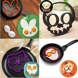 Wholesale Christmas Moulds - Cooked Fried egg Skull owl shaper silicone moulds egg ring silicone mold cooking tools christmas supplies Fried Egg Mold Pancake A027