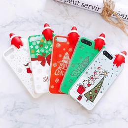 Wholesale Cute Cartoon Casing - for iPhone 7 Plus cases cute cartoon santa tpu Luminous Light phone case for iPhone 6s 6 8 Plus 7 Plus Cover noctilucence