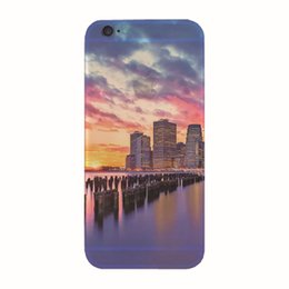 Wholesale Elegant Phone Cover - For iPhone 5 5s SE 6 6s 7 7 Plus Phone Case Elegant Beautiful landscape Painting Soft TPU Cases Back Cover Coque For iPhone 7Plus
