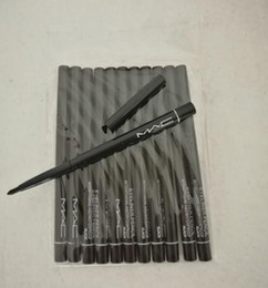 Wholesale Full Liner - Hot sale 12pcs lot FREE SHIPPING M brand Makeup Rotary Retractable Black Eyeliner Pen Pencil Eye Liner New Hottest Eye Liner