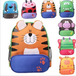 Wholesale Best Baby Bags - Best Price!! Children kids shoulder bags boys grils cute cartoon animals backpacks hand bags kids school bags baby kids 9 styles by dhl