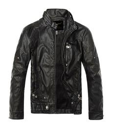 Wholesale Leopard Print Faux Fur Coats - 2017 Men Autumn Winter Leather Jacket Motorcycle Leather Jackets Male Business casual Coats Brand New clothing veste en cuir,YA349