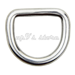 Wholesale Welded D Ring Wholesale - 10PCS D Ring Welded Closed Stainless Steel Boat Bag Hardware Ring Horseshoe