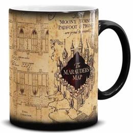 Wholesale Heat Maps - New Harry Potter Marauder's Map Heat Changing Mug Coffee Marauders Official Ceramic Cup Marauders Map Mugs Christmas gift