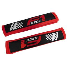 Car Styling Seat Belt Cover Pads Fore1 2pcs Rosso Frabic Shoulder Pad Cuscinetti Protezione cintura di sicurezza da