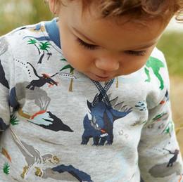 Wholesale Boys Dinosaur Shirts - Fashion new style boys T-shirt thicken dinosaur long sleeve boy T-shirt top tees kids clothing children autumn clothes
