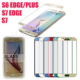 Argentina Samsung Galaxy S6 Edge Plus vidrio templado a prueba de explosiones S6 Edge Screen Protector 3D con paquete al por menor DHL Free SSC031 supplier tempered screen protector samsung s6 dhl Suministro