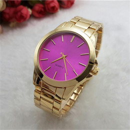 Wholesale Famous Steel - Luxury Watches Fashion Women Watch Stainless Steel Luxury Lady Big Wristwatch Famous High Quality Watches Wholesale Free Shipping