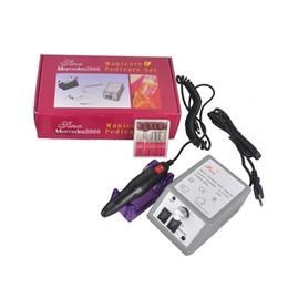 2019 máquina de tarifa Manicura Profesional Máquina de Pulir Eléctrica Manicura Pedicura Nail Art Drill Herramientas de Uñas Tasa de Rotación Ajustable Manicura de Uñas máquina de tarifa baratos
