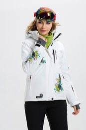 Wholesale Womens Skiwear - 2016 new womens ski jacket ladies fashion cotton snowboarding jackets waterproof skiing jacket for women thickness skiwear