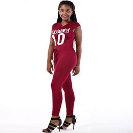 Roter spandex spielanzug online-Sexy Casual New Style 2017 Einfarbig Spielanzug Overall Mit V-ausschnitt Ärmellose Bodycon Baumwolle Rot / Schwarz Strampler Womens Jumpsuit