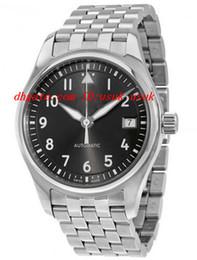 Wholesale Grey Ceramic - Top Quality Luxury Wristwatch Pilot Automatic Slate Grey Dial Unisex Watch 36MM Mens Watch Watches