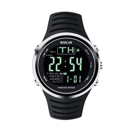 Wholesale Waterproof Fishing Watches - Sports Smart Watch FW01 Fishing Watch Altimeter Barometer Thermometer LED Display Waterproof Wristwatches