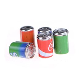 Wholesale Toy Beer Bottles - Wholesale- 5pcs 1:12 Dollhouse Aluminum Miniature Dining Beer Bottle Set Kids Gift Pretend play toys Miniature Toy