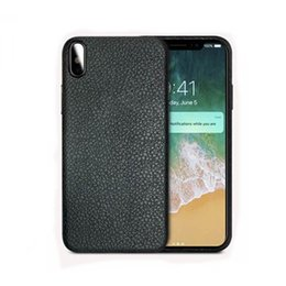 Wholesale imitation mobile phones - Shell Case TPU Striae Imitation Leather Phone Cover Ultra thin Mobile Cellphone Case For IphoneX