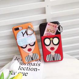 Wholesale Key Cases For Women - Street Fashion Women Phone Cases Hippie Mobile phone wallet 2017 Ladies For iPhone 6 case Bags Leather For iPhone 7 case Key