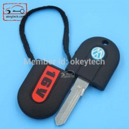 Wholesale Vw Key White - Free shipping VW 16V keys with white light for key VW G60 car key chain flash light