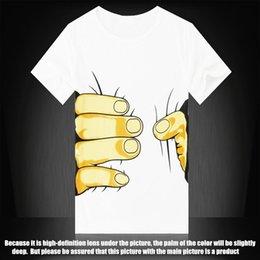 Wholesale Spoof Grab Shirts - 042,10 colors big Hand t shirt!Man men clothes Printing Hot 3D visual creative personality spoof grab your cotton T-shirt shirt