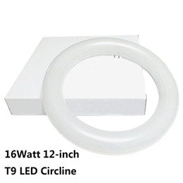 Wholesale Replacement Fluorescent Bulbs - 12 Inch Circline 16W T9 LED Light Bulb Daylight 6000K Replacement for Fluorescent FC12T9 without Ballast circular ring tube circle lighting
