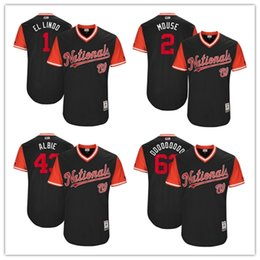 Wholesale Shorts Mouse - Washington Nationals Sean Doolittle Doooooooo Adam Eaton Mouse Wilmer Difo El Lindo Matt Albers Albie 2017 Player Weekend Authentic Jersey