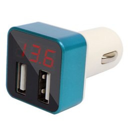 Wholesale Selling Laptop Chargers - 2016 hot selling smart USB Car Charger 3.4A Universal dual detector mini Adapter PC + ABS for laptop mobille phone cameras MP3 MP4