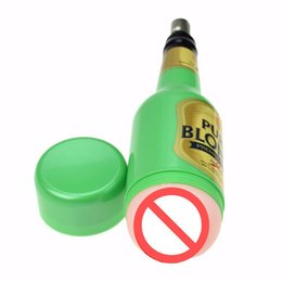 Wholesale Discreet Sex - Newest Fashion Pussy for Men's Masturbation in Discreet Beer Bottle Shape,Attached onto a Sex Machine as its Accessory,Attachment,Sex Toys