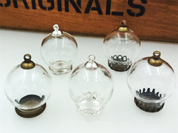 Canada 20x12mm globe de verre clair avec des découvertes de base mis vide verre verre dôme pendentif en verre pendentif bijoux cheap empty pendant vial Offre