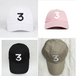 Wholesale Bears Book - Casquette Chance 3 the rapper Streetwear Dad hat cap snapback Baseball Cap coloring Book golf kanye west bear dad caps hats free shipping